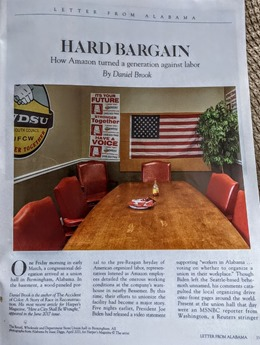Hard Bargain Harpers opening page