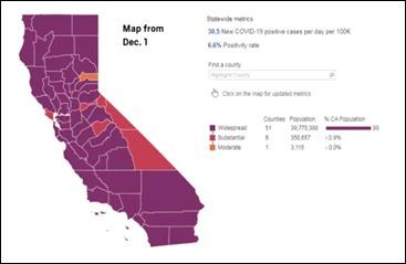 California covid december 1 map