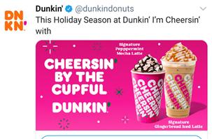 Dunkin cheersin