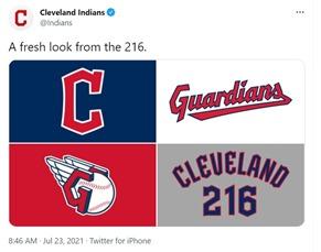 cleveland guardians twitter screenshot