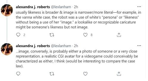 Alexandra Roberts NIL tweets