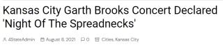 Spreadneck headline Garth Brooks concert
